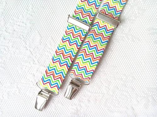 Suspenders for kids (zig-zag)