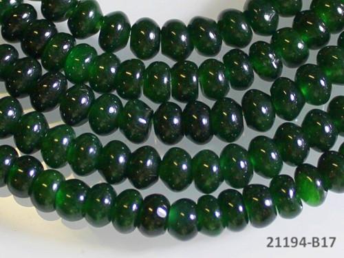 21194-B17 Rondelky JADEIT tm.zelený 6mm, bal. 5ks