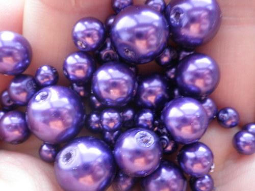 voskované perly mix 4-10mm,100g