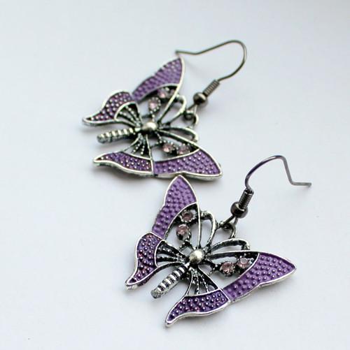 Motýli - náušnice