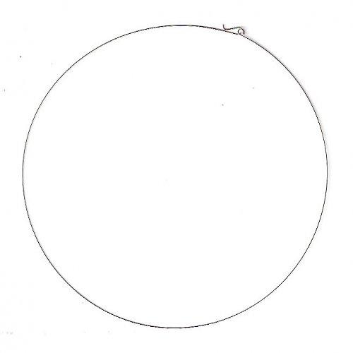 Náhrdelníková obruč stříbrná prům. 15 cm