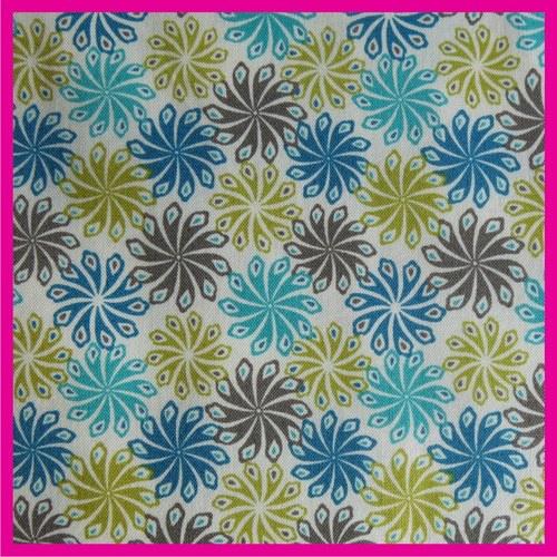 Látka květy modré SLEVA