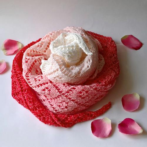 Když Růženka vstává - šátek   bavlna/akryl
