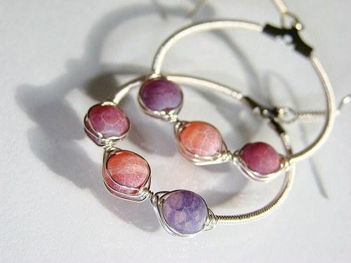 Violet agates