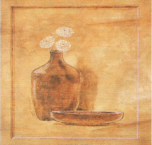 Reprodukce-tisk-Hnědá váza 15x15cm-0166A