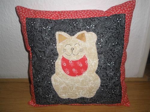 polštář kočka