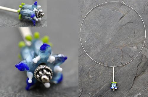 Náhrdelník modrý NN002