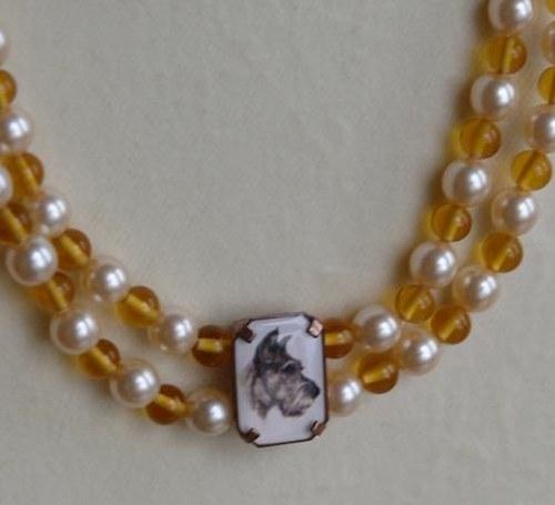 psík - náhrdelník dvouřadý