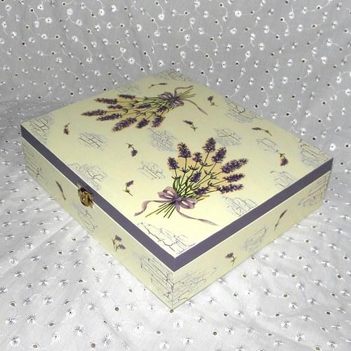 Levandulová krabička -12 přihrádek