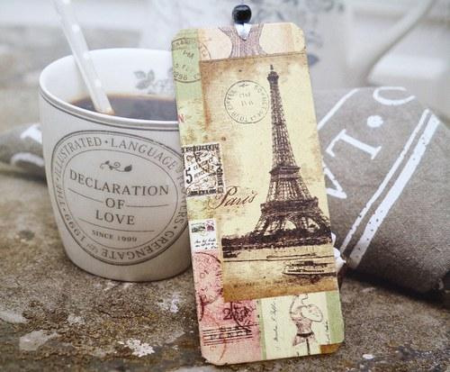 dřevěná záložka - Paris