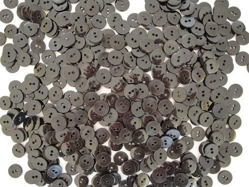 Černé lesklé knoflíčky 15 mm, 10 ks