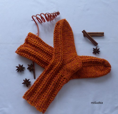 Ponožky jako od maminky -  oranžové 6