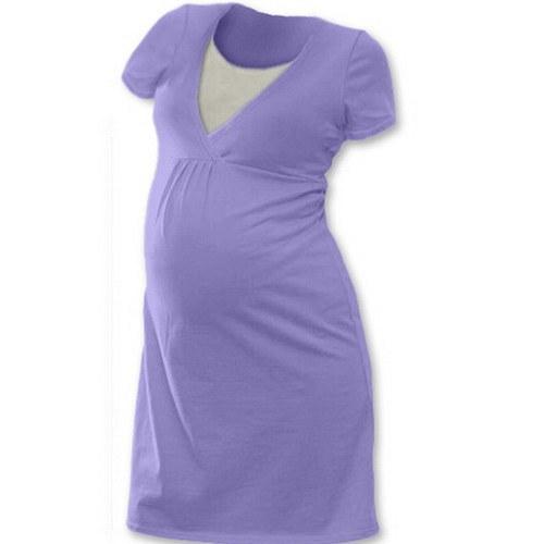 Noční košile pro kojící maminky- šeříková