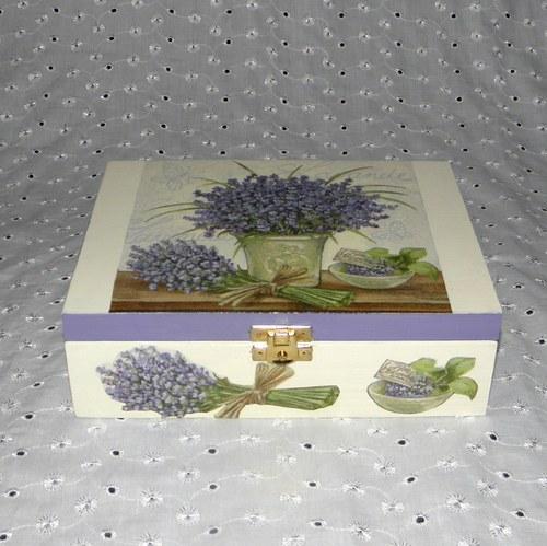 Krabička na čaj - levandulové zátiší II.