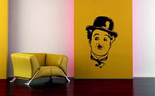 Samolepka na zeď - Charlie Chaplin