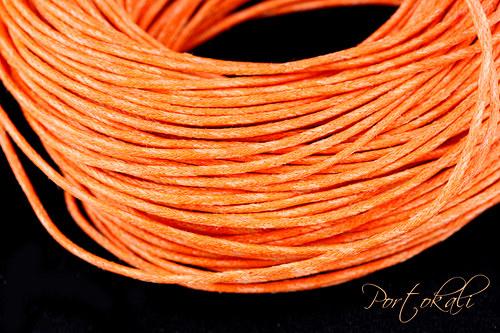 Oranžová bavlněná šňůrka 1 m