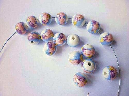Porcelánové korálky kulička 12 mm 2 kusy