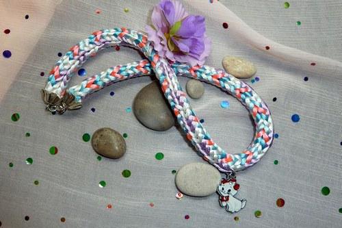 Kumihimo náhrdelník Koťátko pro kočičí slečnu