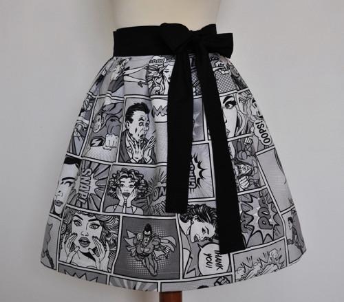 Komiks - zavinovací sukně