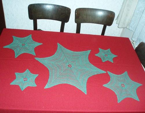 """""""Vánoční"""" sada (56 cm) 1+2+2 dvě podložky"""