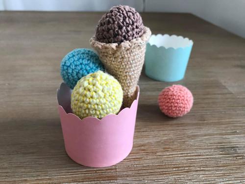 Háčkovaná zmrzlina