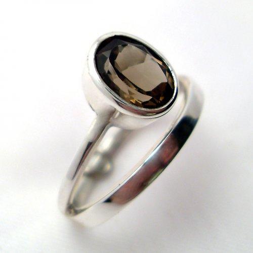 Prsten «Korálek» - stříbro 925/1000, záhněda