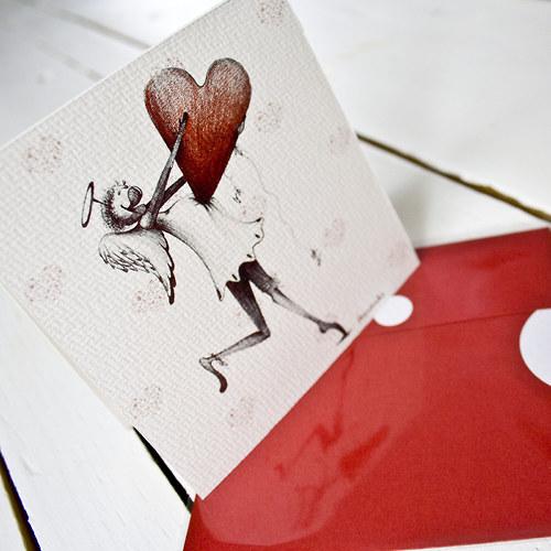 PŘÁNÍ-10 x 10 cm - TtjAnděl- Srdce pro tebe!!!