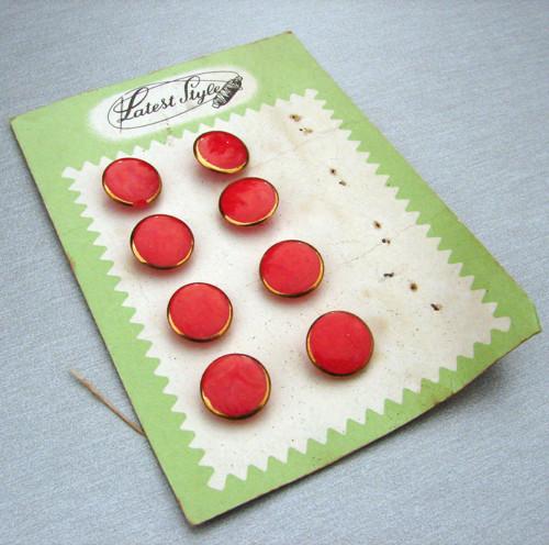 Červená sedma - knoflíky