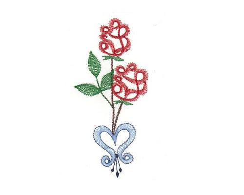Paličkovaná dekorace - růže