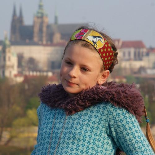 Pipi na výletě... dívčí čelenka s koníkem