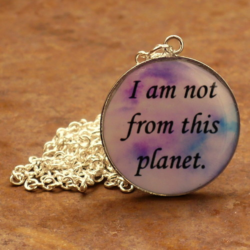 I am not from this planet (náhrdelník)