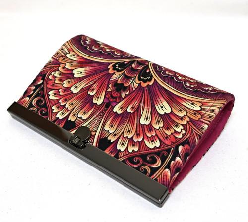 OHNIVÝ ORNAMENT  -  rámečková peněženka 15 cm