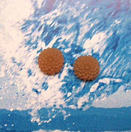 květinka z pryskyřice/ zamrzlá/ 10mm/ hnědá/ 2ks