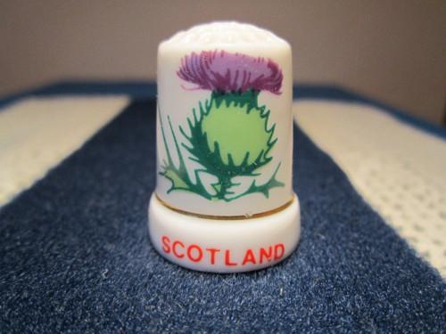 Sběratelský náprstek Skotsko - symbol - bodlák