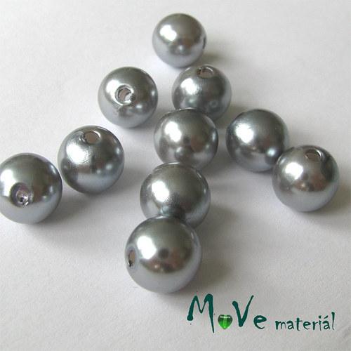 Akrylové voskové perle, 10ks, stříbrné