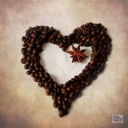 Coffee Heart, autorská fotografie
