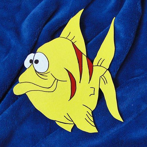 Dekorace žlutá ryba