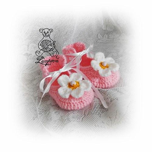Háčkované bačkůrky pro miminko sleva