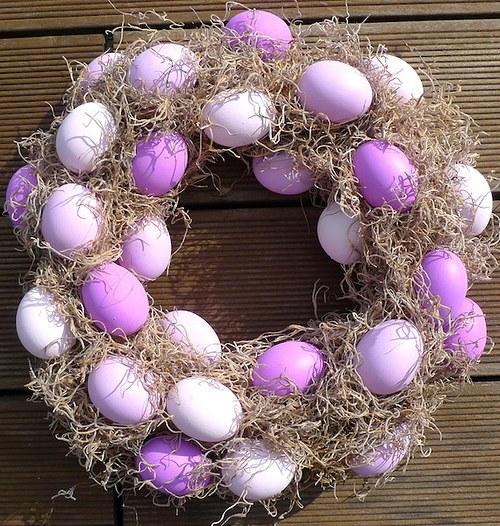 Velikonoční věnec fialový / Easter wreath