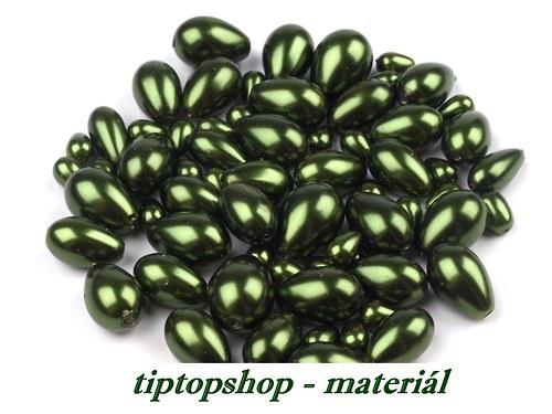 Voskované kapky MIX 7-15mm,olivová zeleň (25g)