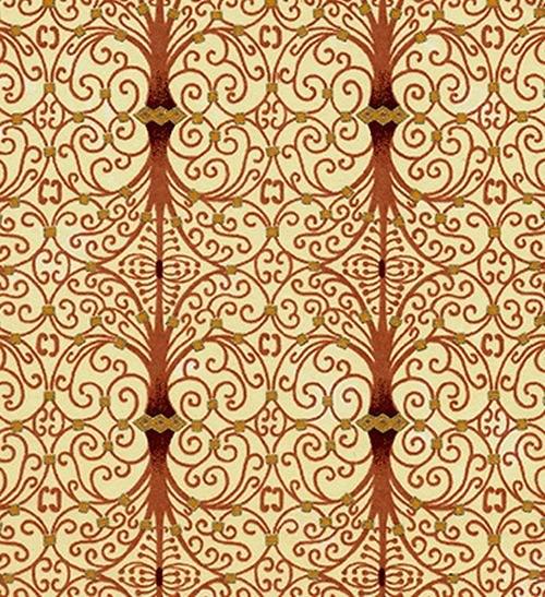 Handmade papír - Spirály hnědé