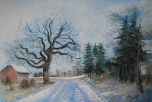 Zima na Cínovci