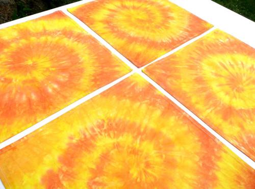 Prostírání na stůl 40x40 Zářivě žluté