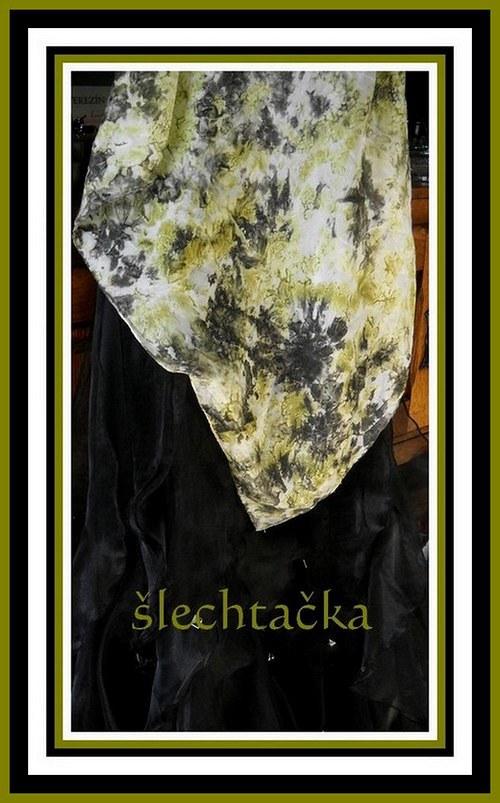 Hedvábný šátek 70x70cm