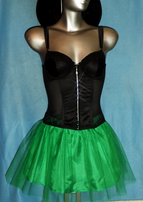 GREEN - Tylová sukně