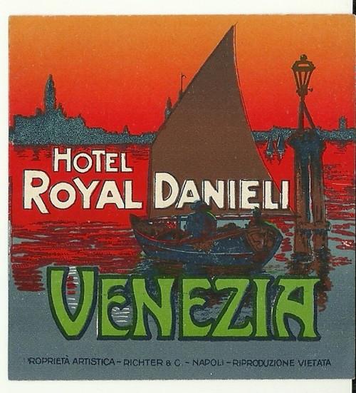Hotelové nálepky Hotel Royal Venezia