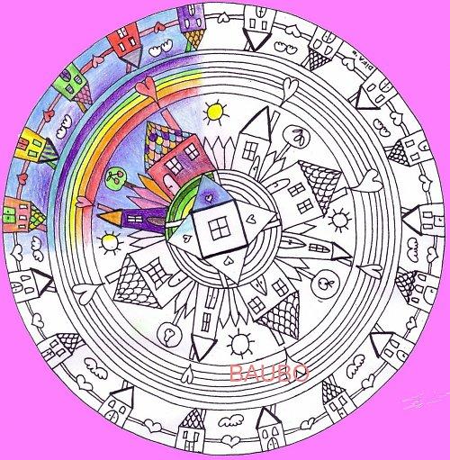 Dedinka lásky-vyfarbovacia mandala