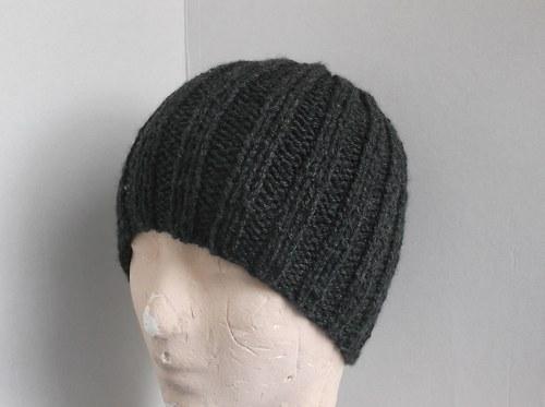 Pánská, silná čapka,barva antracit.vel.až 64cm