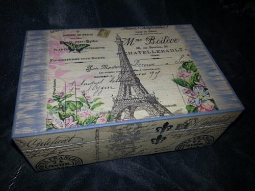 šperkovnice PARIS,  čajová krabice