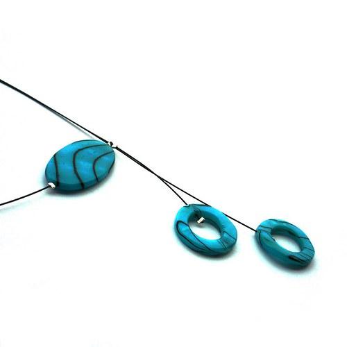 Tyrkysový perleťový náhrdelník